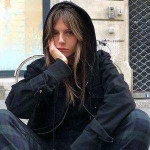 Brandy Melville Black Christy hoodie